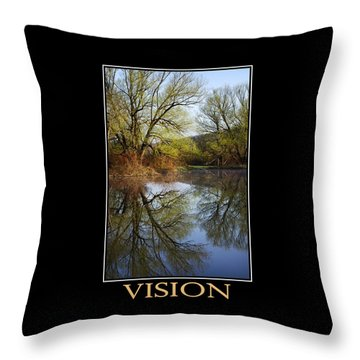 Vision Inspirational Motivational Poster Art Throw Pillow by Christina Rollo