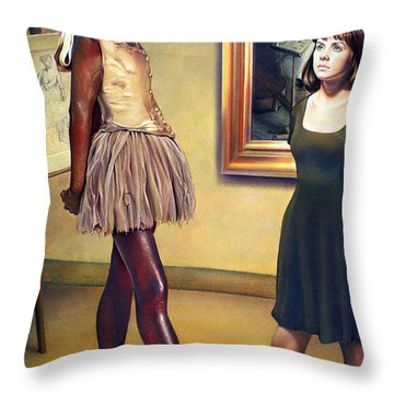 Visit To The Museum Throw Pillow by Patrick Anthony Pierson
