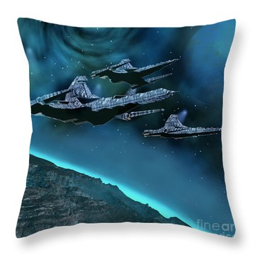 Visitors Throw Pillow by Corey Ford