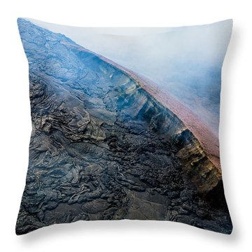 Throw Pillow featuring the photograph Volcanic Ridge by M G Whittingham