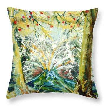 Volcano Throw Pillow by John Keaton