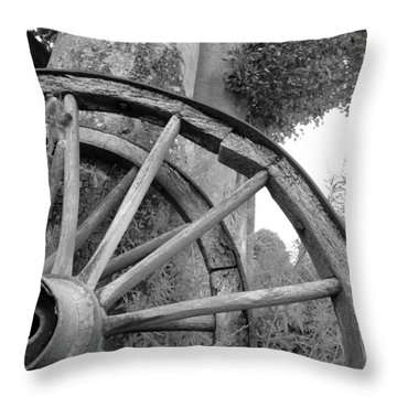 Wagon Wheels Throw Pillow by Robert Lacy