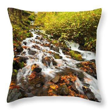 Wahkeena Autumn Throw Pillow by Mike  Dawson