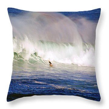 Waimea Bay Wave Throw Pillow by Kevin Smith