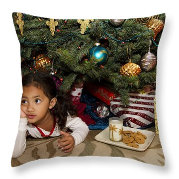 Waiting For Santa Throw Pillow by Sri Maiava Rusden - Printscapes