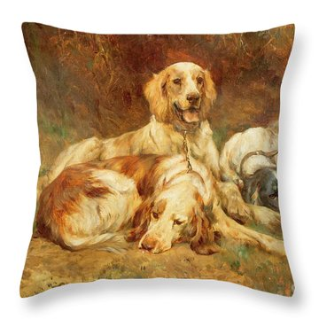 Waiting For The Guns  Throw Pillow by Thomas Blinks