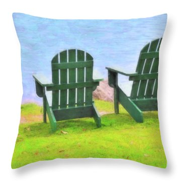 Waiting For You Throw Pillow by Betty LaRue