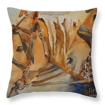 Waiting Patiently Throw Pillow by Gretchen Bjornson