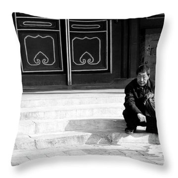 Waiting Throw Pillow by Sebastian Musial