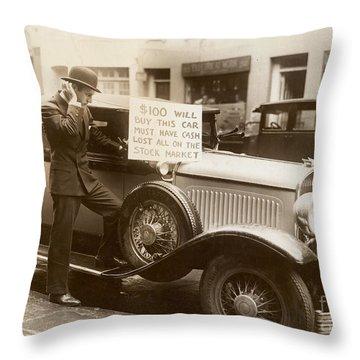 Wall Street Crash, 1929 Throw Pillow by Granger