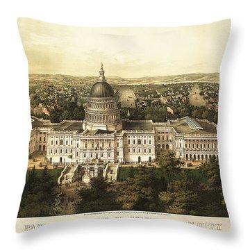 Washington City 1857 Throw Pillow by Jon Neidert