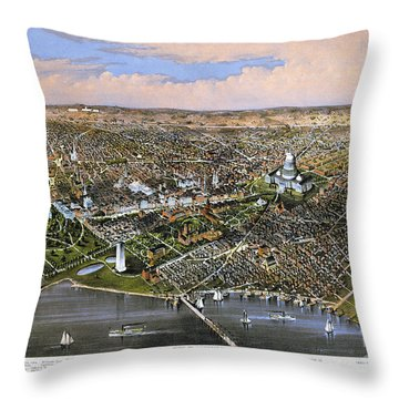 Washington, D.c., 1880 Throw Pillow by Granger
