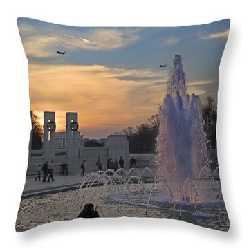 Washington Dc Rhythms  Throw Pillow by Betsy Knapp