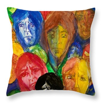 Watching On 9-11 Throw Pillow by Judith Redman