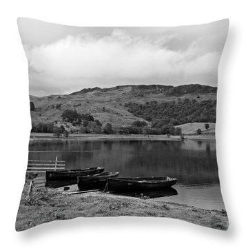 Watendlath Tarn In The Lake District Cumbria Throw Pillow by Louise Heusinkveld