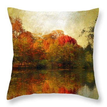 Watercolor Sunset Throw Pillow by Jessica Jenney