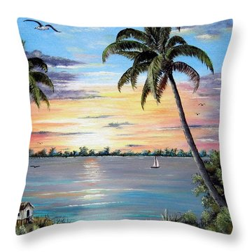 Waterfront Property Throw Pillow by Riley Geddings