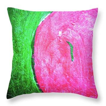 Watermelon Throw Pillow by Inessa Burlak