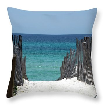 Way To The Beach Throw Pillow by Susanne Van Hulst