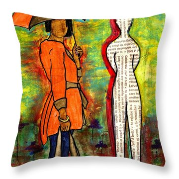 We Can Endure All Kinds Of Weather Throw Pillow by Angela L Walker