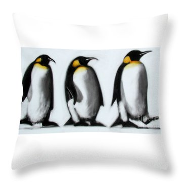 We Three Kings Throw Pillow by Paul Powis