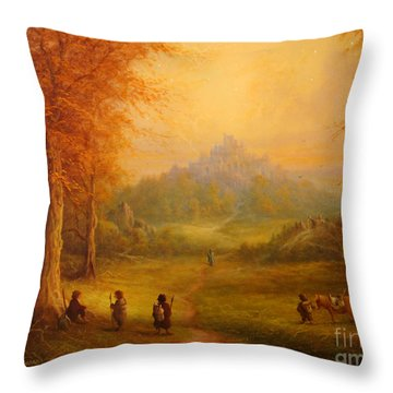 Weathertop Throw Pillow by Joe  Gilronan
