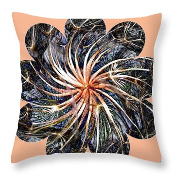 Weed Whirl Throw Pillow by Will Borden