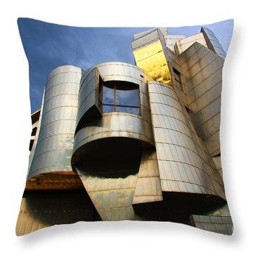 Weisman Art Museum University Of Minnesota Throw Pillow by Wayne Moran