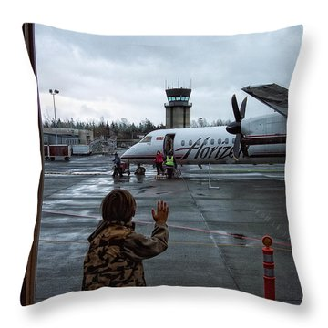Welcome Home Throw Pillow by Donna Blackhall