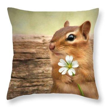 Welcome Spring Throw Pillow by Lori Deiter