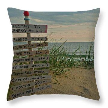 Welcome To Manasquan Throw Pillow by Robert Pilkington