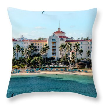 Welcome To Nassau Throw Pillow by Christopher Holmes