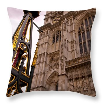 Westminster Abbey London England Throw Pillow by Jon Berghoff
