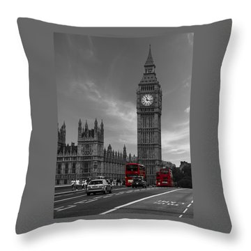 Westminster Bridge Throw Pillow by Martin Newman