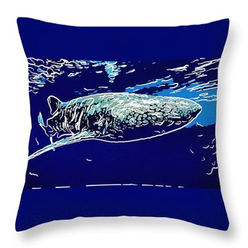 Whaleshark  Throw Pillow by Lanjee Chee