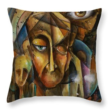 What Throw Pillow by Michael Lang