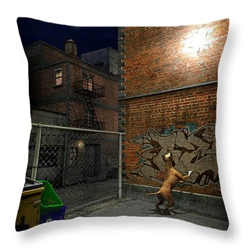 When Stars Fall In The City Throw Pillow by Cynthia Decker