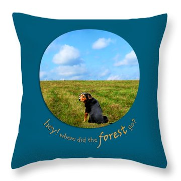 Where Did The Forest Go Throw Pillow by Christina Rollo