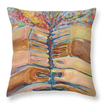 Where Hope Springs Throw Pillow by John Keaton
