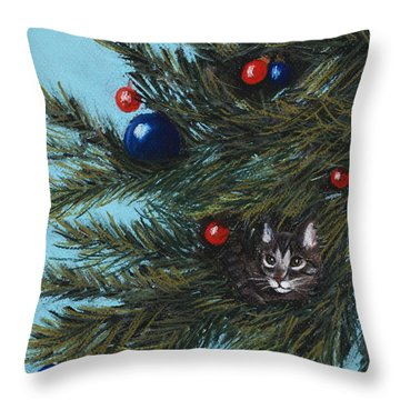 Where Is Santa Throw Pillow by Anastasiya Malakhova