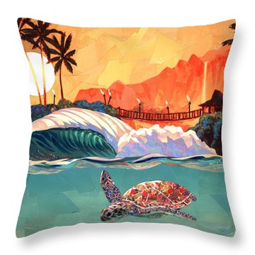 Where You Want To Be Throw Pillow by Patrick Parker