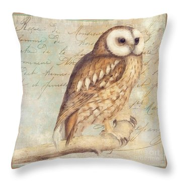 White Faced Owl Throw Pillow by Mindy Sommers