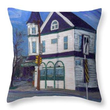 White House Tavern Throw Pillow by Anita Burgermeister