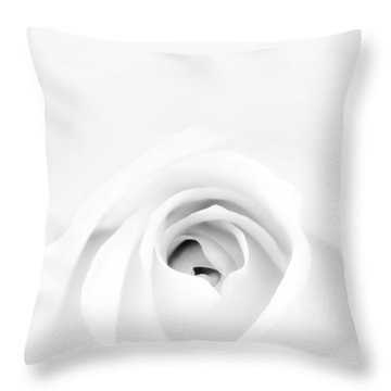 White Rose Throw Pillow by Scott Norris