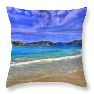 White Sands Beach Throw Pillow by Scott Mahon