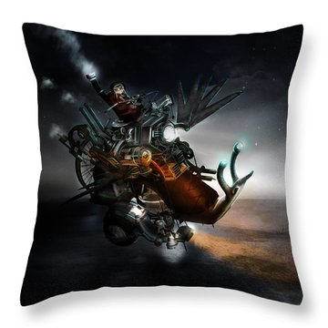 Who Knew What Snails Can Do Throw Pillow by Mary Hood