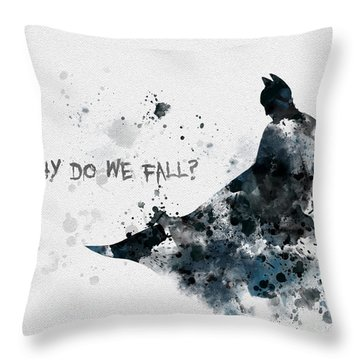 Why Do We Fall? Throw Pillow by Rebecca Jenkins