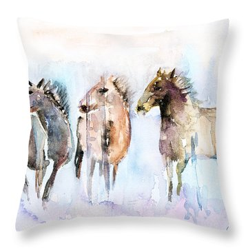 Wild And Free Throw Pillow by Arline Wagner