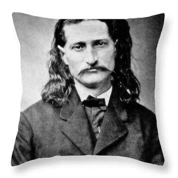 Wild Bill Hickok - American Gunfighter Legend Throw Pillow by Daniel Hagerman