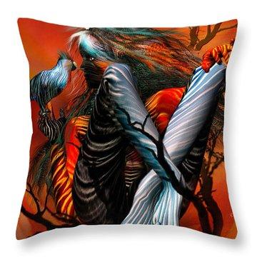 Wild Birds Throw Pillow by Carol Cavalaris